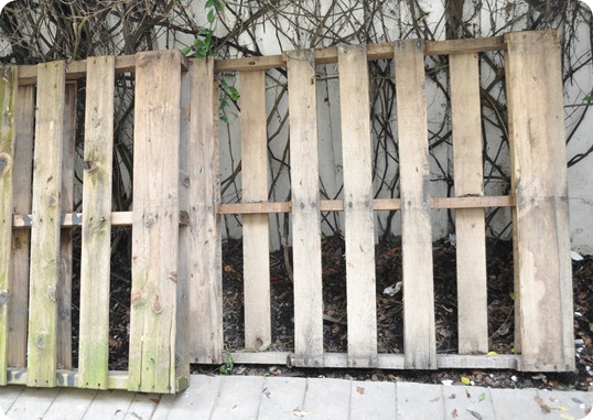 pallets in yard