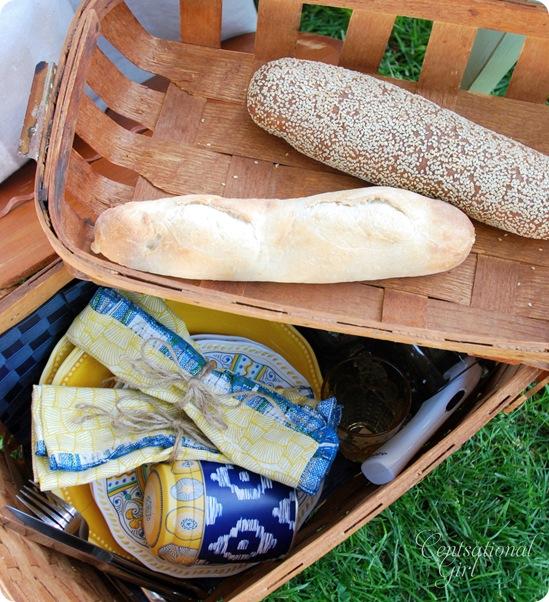 vintage picnic basket cg
