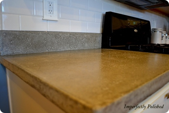concrete counters imperfectly polished