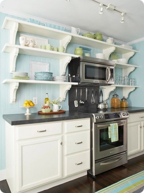 cottage kitchen bhg via hoturq