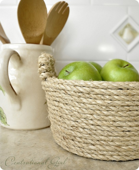 sisal rope bowl by kate