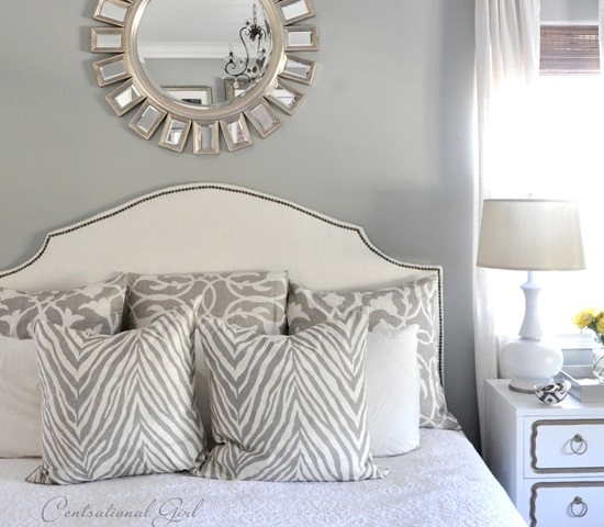 upholstered headboard with nailhead trim, revisited  centsational, Headboard designs