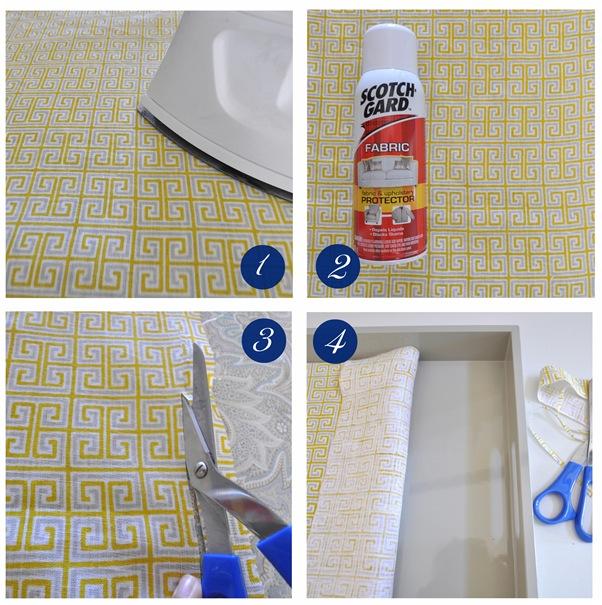 fabric tray steps