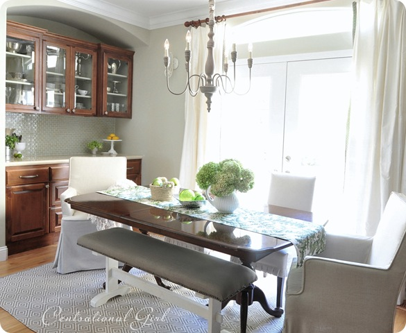 kates dining room table and cabinets