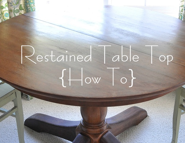 how to restain a wood table top | centsational girl