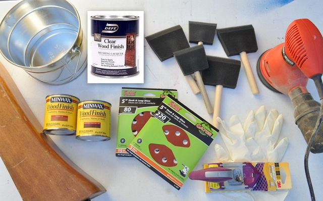 supplies for refinishing table - Refinishing Wood Table