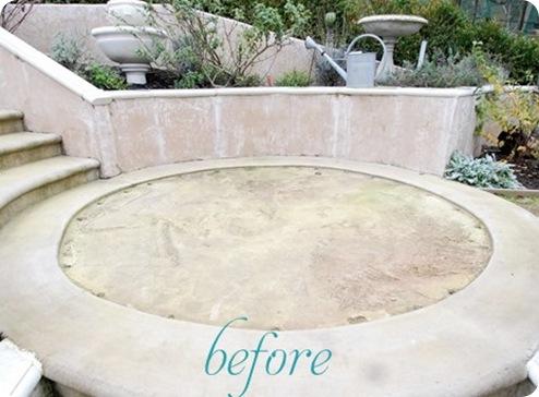 circular patio before 2