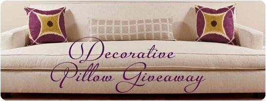 decorative pillow giveaway sofa