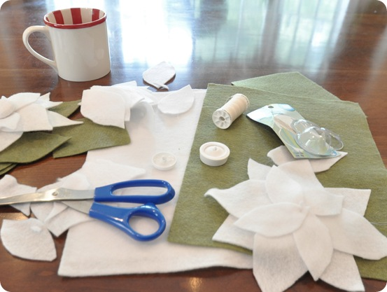 making poinsettias