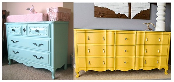 pained dressers