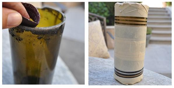 polishing cloth gold stripes