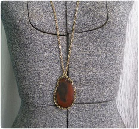 stone agate necklace craft
