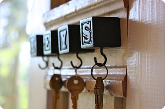 diy key hooks my sweet savannah