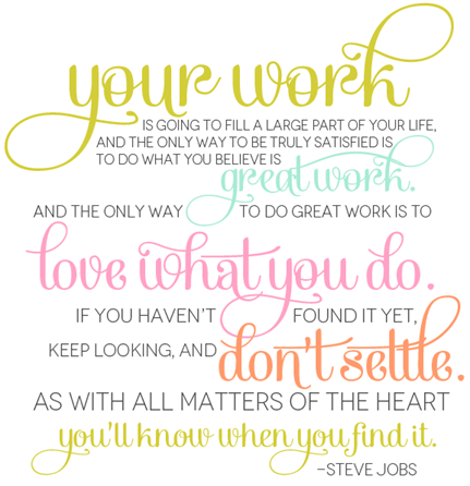 fabulous k steve jobs quote