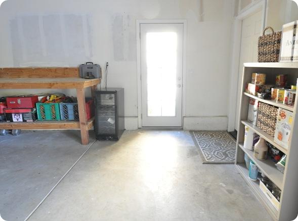 garage workbench before