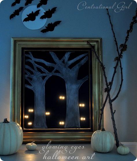 glowing eyes halloween art cg