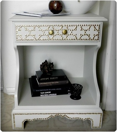 nailhead trim end table