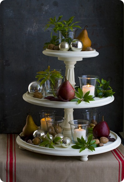 tiered holiday stand