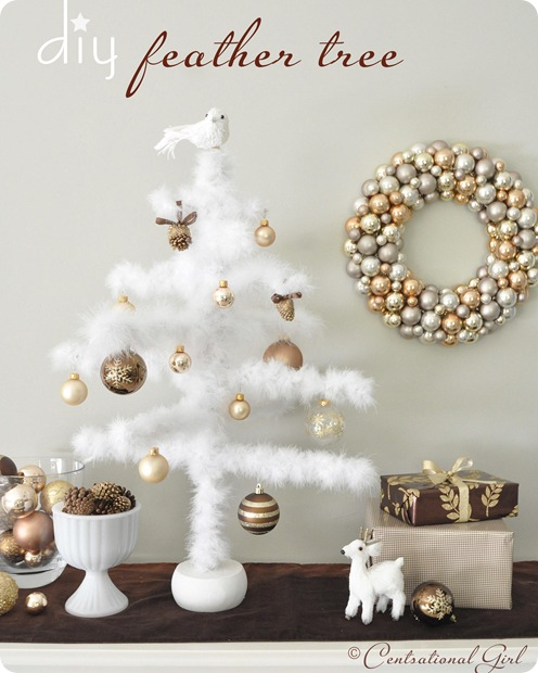 diy feather maribou tree cg