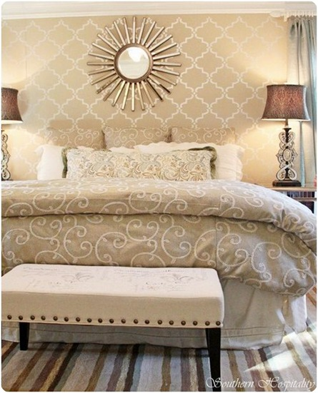 modern glam bedroom southern hospitality