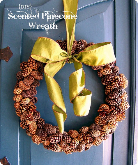 scented pinecone wreath hi sugarplum