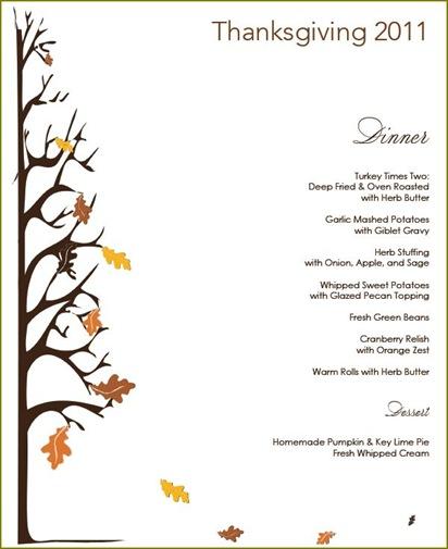 thanksgiving menu 1