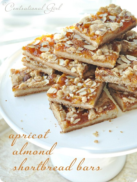 apricot almond shortbread bars centsational girl