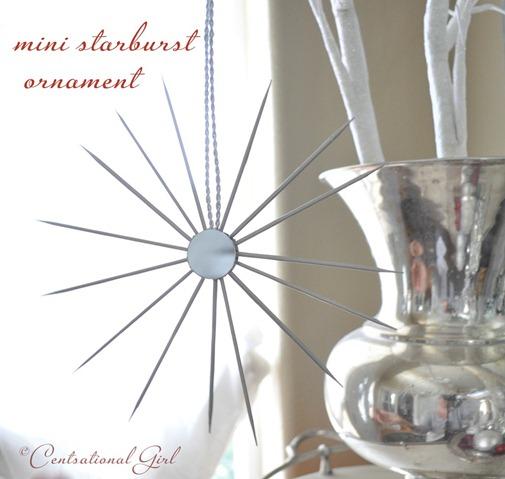mini silver starburst ornament