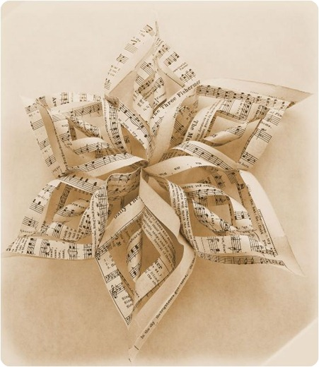 music sheet star ornament
