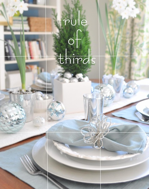 rule of thirds tablescape