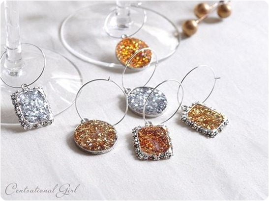 wine glass charms cg