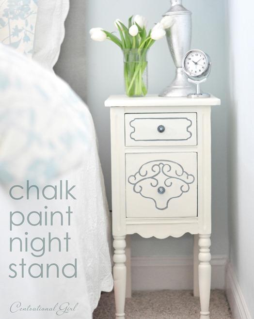 chalk paint night stand cg