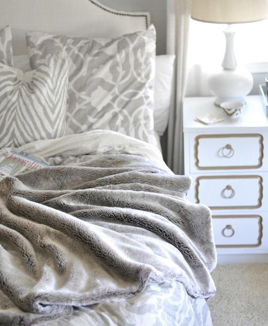 cozy winter blanket in bedroom