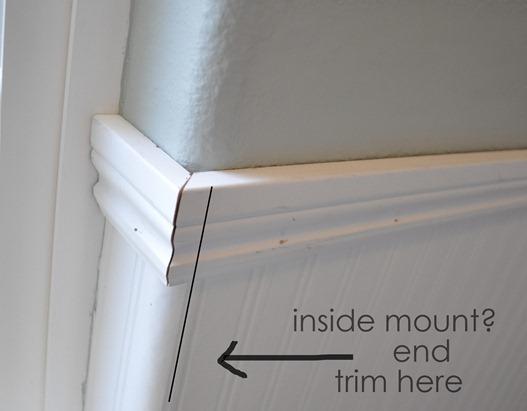 end trim for inside mount shade