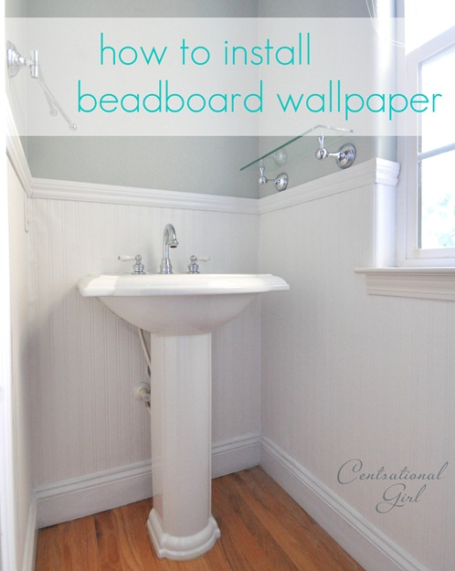 how to install beadboard wallpaper