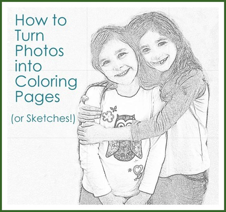 how to turn photos into coloring pages