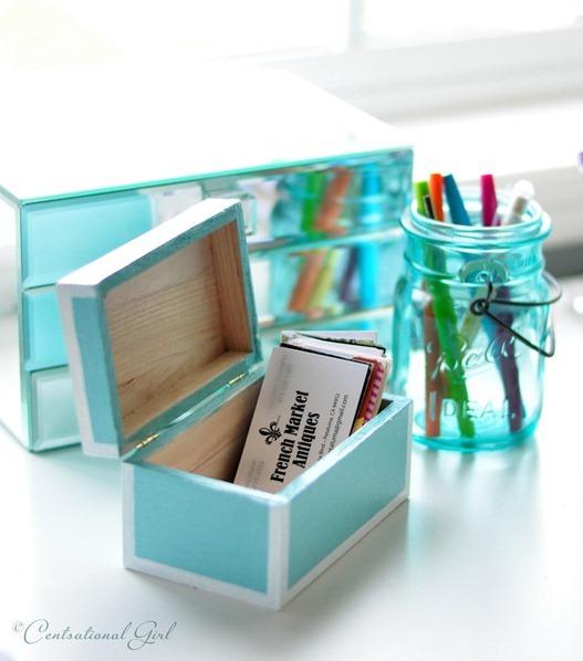 small business card lacquer box cg