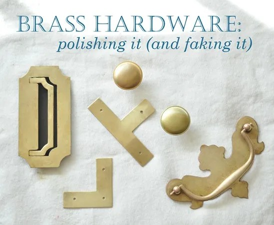brass hardware polished and fake