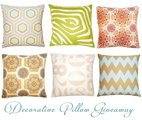 decorative pillow giveaway collage