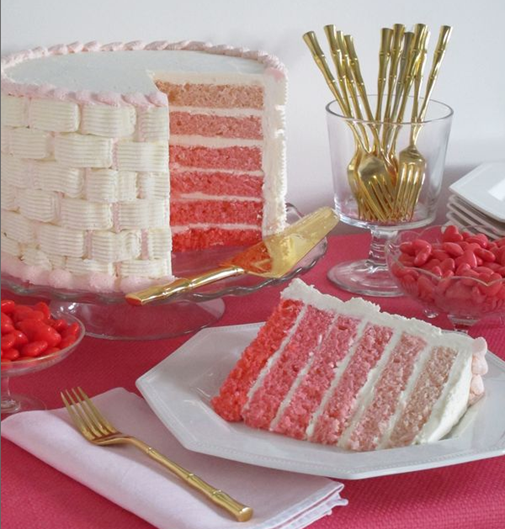 pink ombre cake eddie ross
