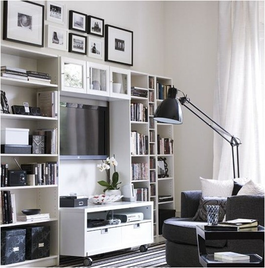 black and white storage center house to home
