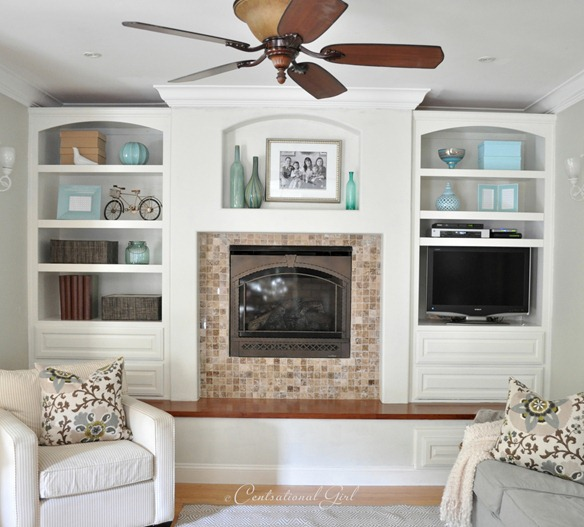 cg family room white built ins