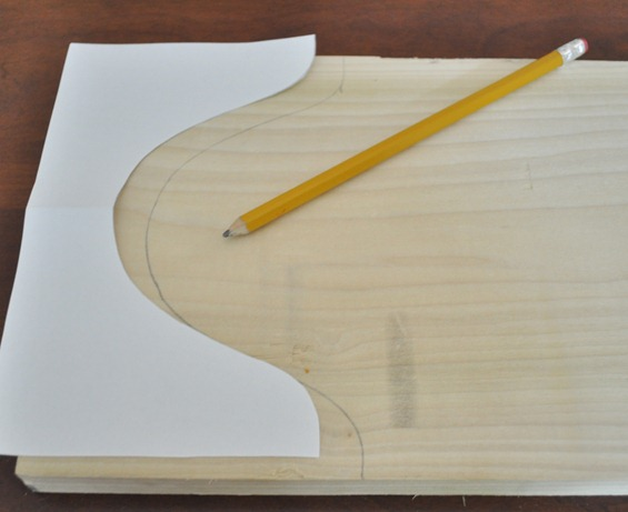 fold in half mark with pencil
