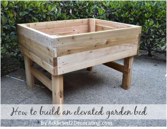 how to build raised garden planter