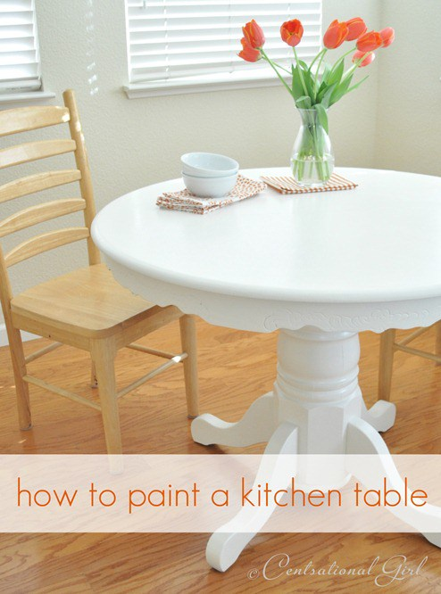 Painting A Kitchen Table Is An Easy Project! As Long As You Follow The  Steps, Youu0027ll Have A Paint Job That Lasts For Years To Come!