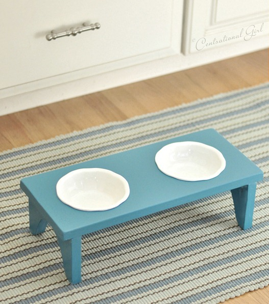 pet bowl stand diy
