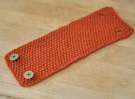 seed stitch coffee cozy