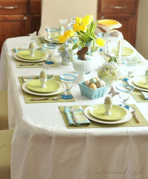blue green easter table cg