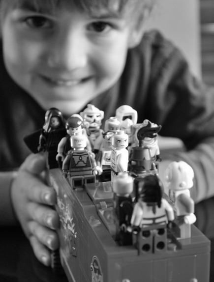boy with legos