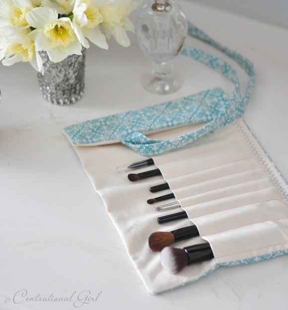 diy fabric makeup brush holder cg